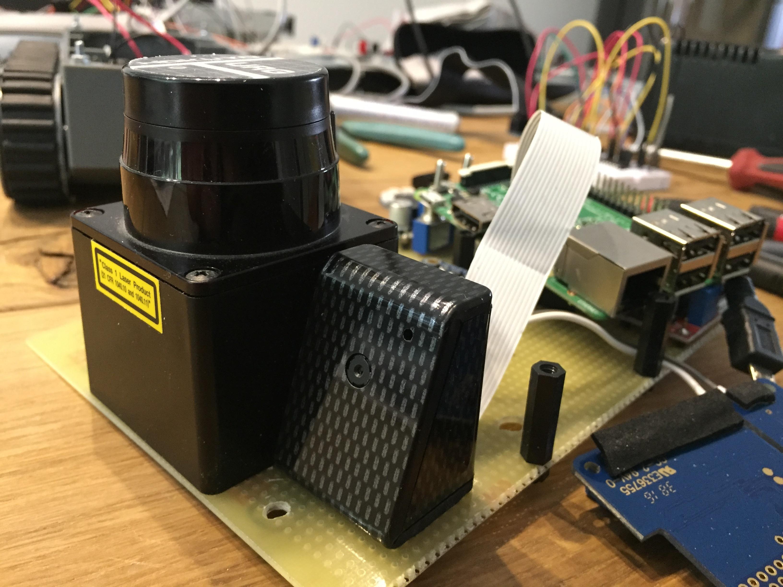 Laserscanner und Kamera