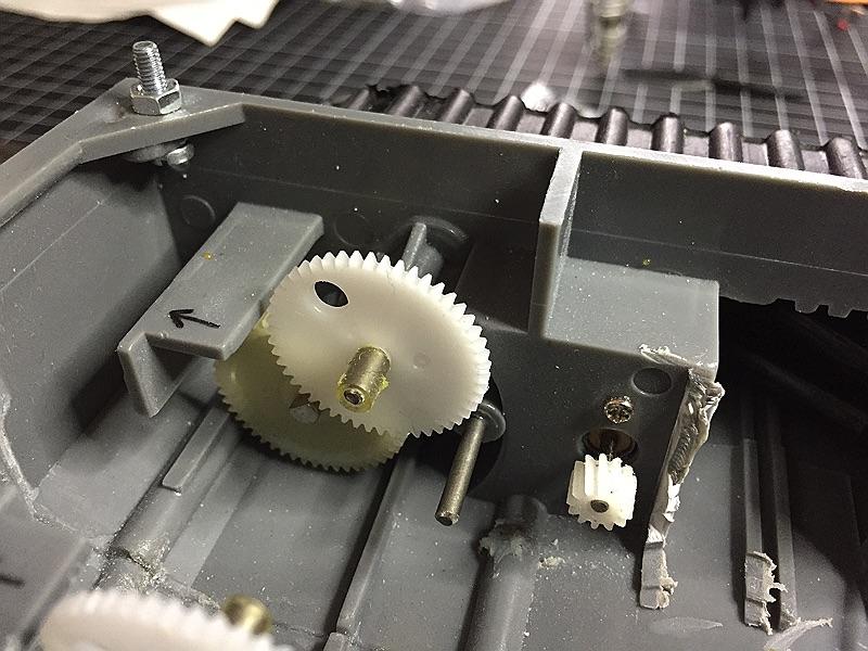 minibot Zahnräder abmontiert