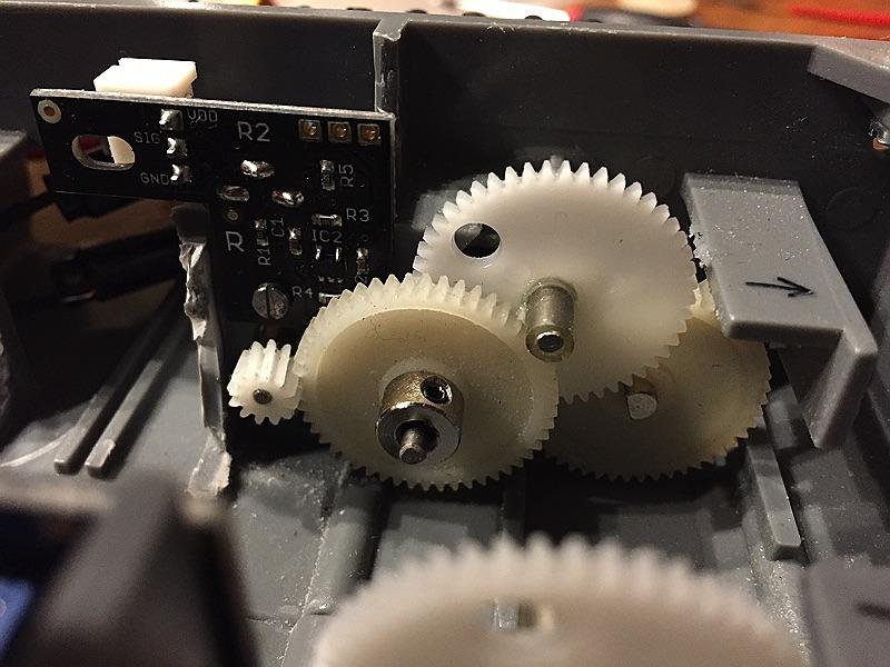 minibot Ein Encoder montiert