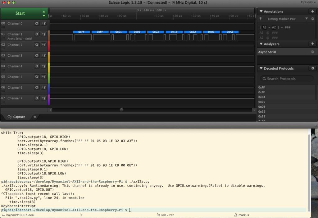 minibot Dynamixel servo Raspberry Pi 74LS241
