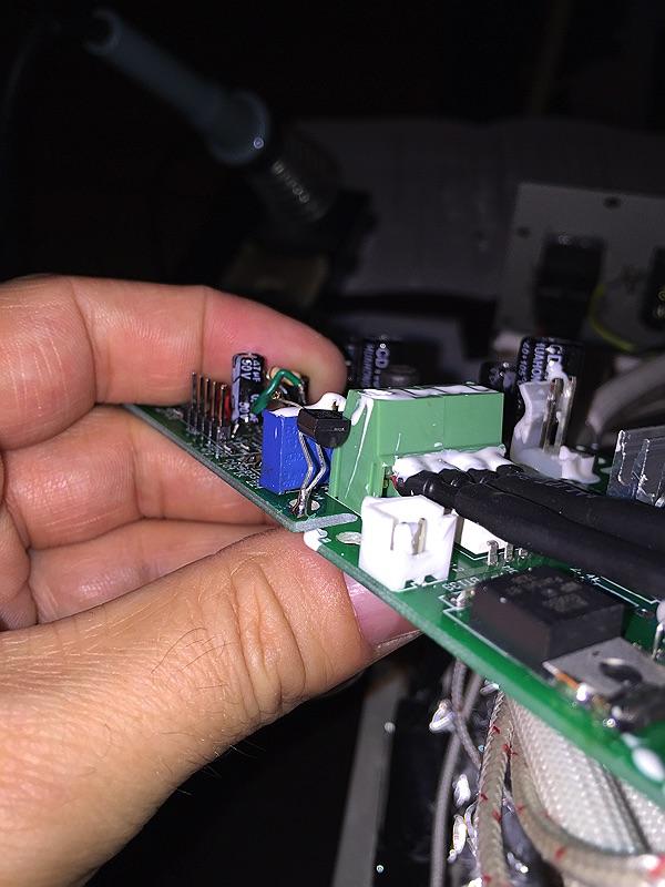 T-962 Erweiterung um 1-Wire-Sensor DS18B20 und 4,7 k Ohm-Widerstand