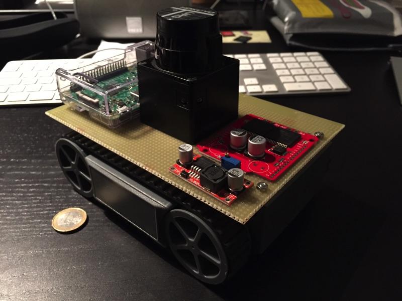 minibot mit anderer Komponentenanordnung