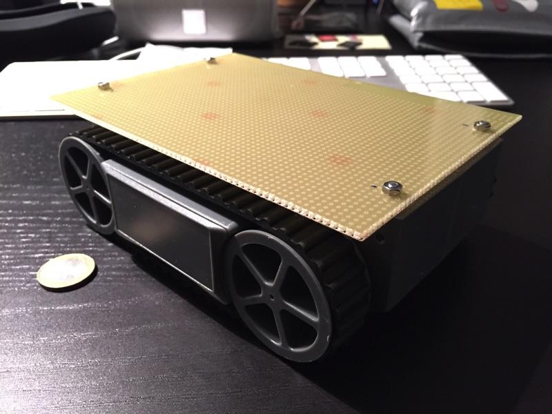 minibot mit montierter Platine
