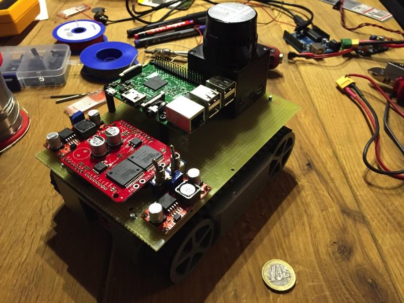 minibot - Grundaufbau, noch unverkabelt