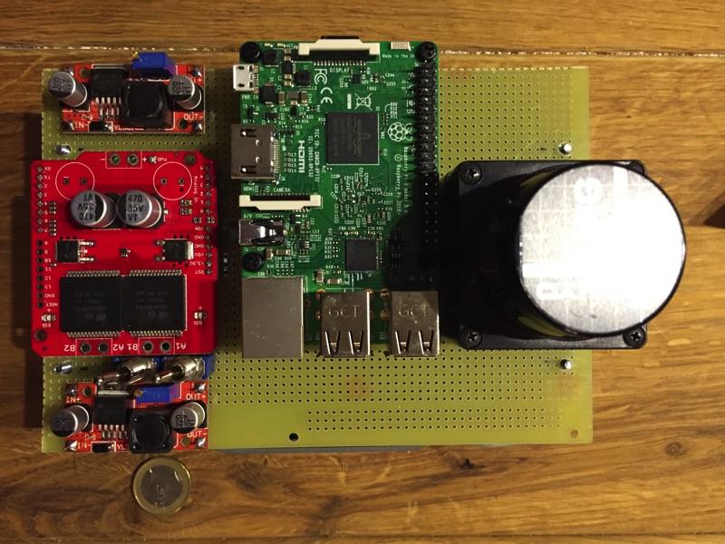minibot - Grundaufbau von oben