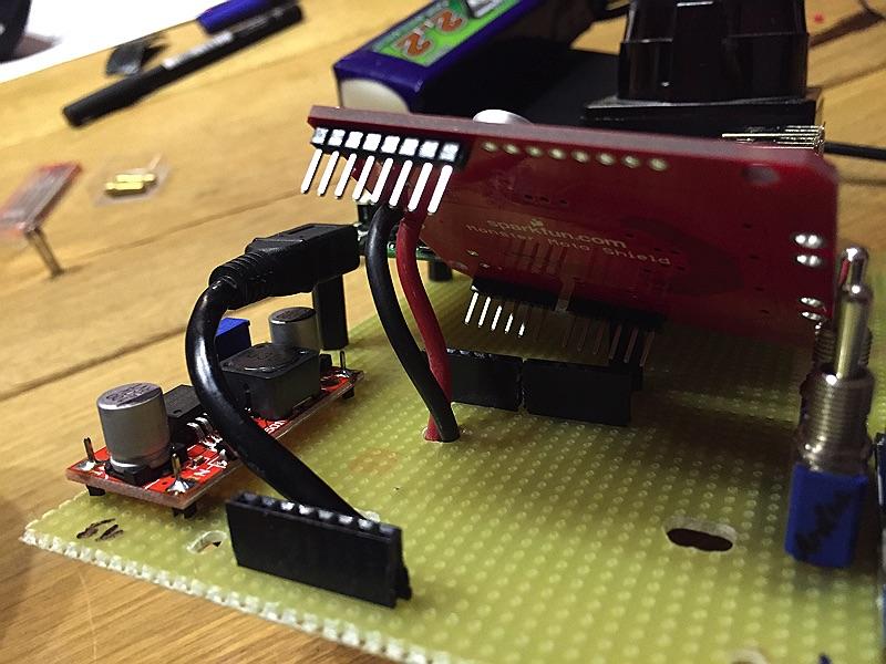 minibot - das Monster Moto Shield von unten