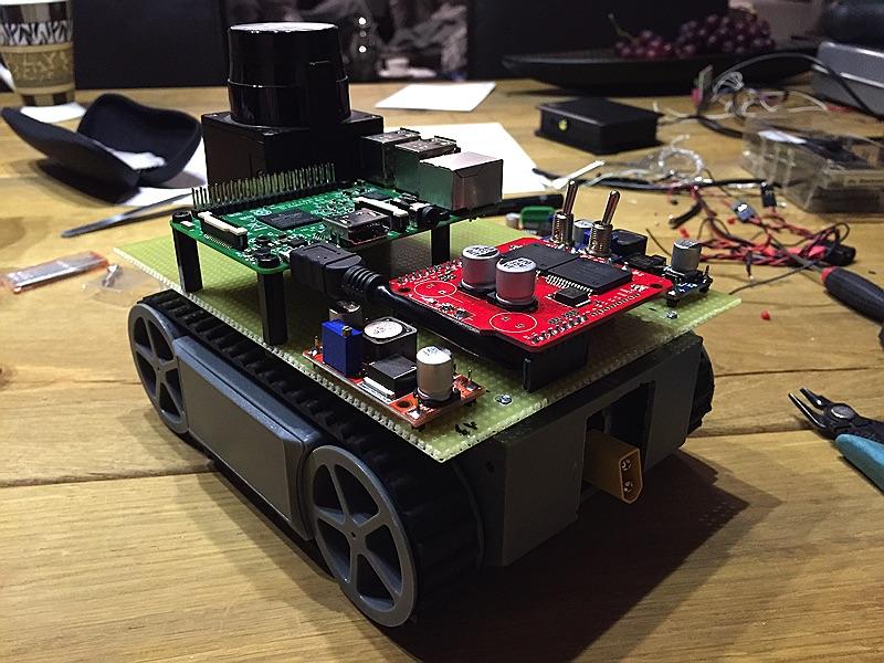 minibot - Alle Motoren verkabelt