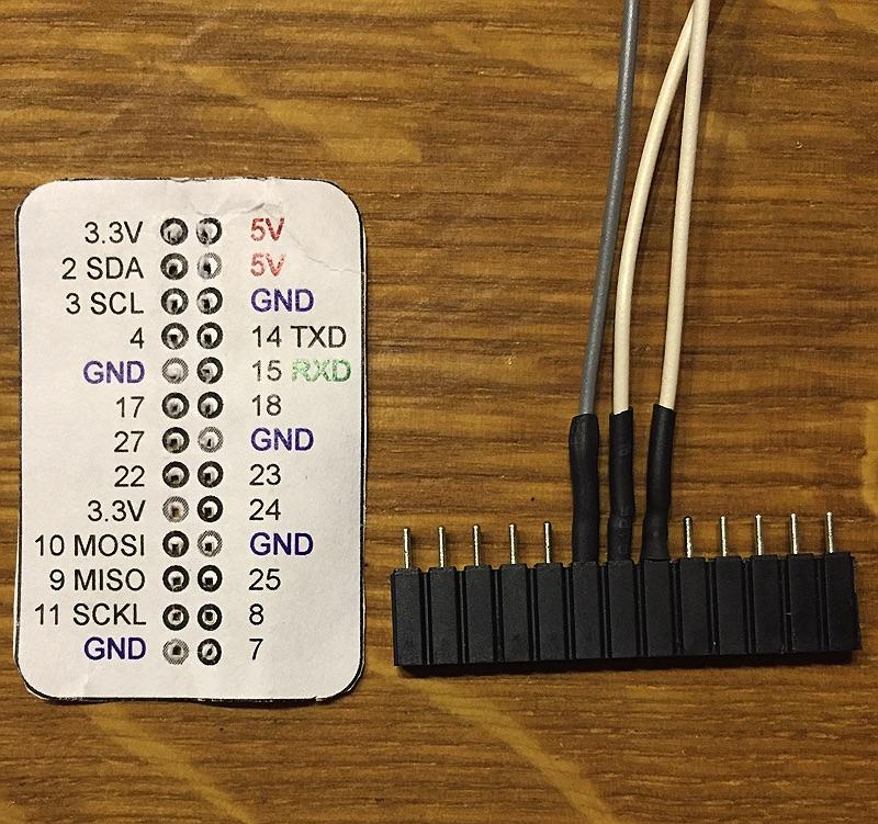 minibot - Anschluss der GPIO auf dem RasPi