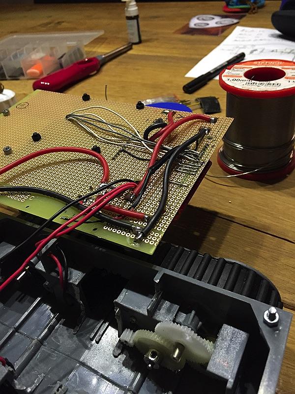 minibot - Verkabelung der RasPi GPIOs