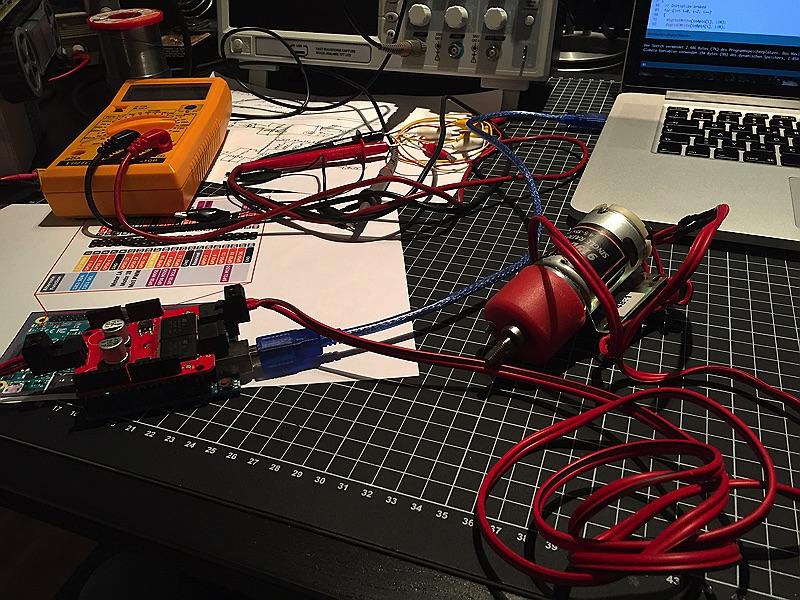 minibot - separater Test mit anderem Motor und Arduino