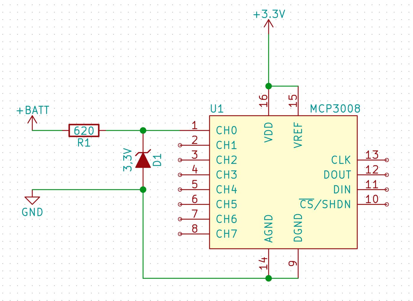 minibot - Aufbau der Spannungsüberwachung