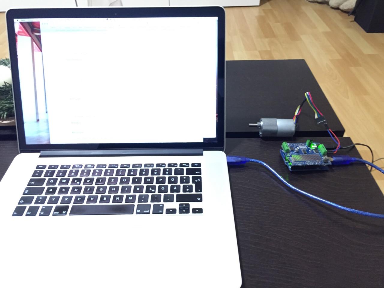Erster Test am MacBook