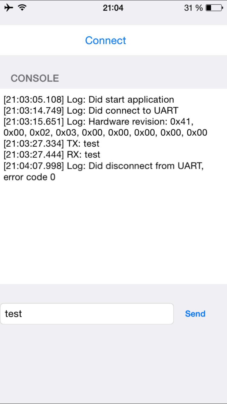 Die App kommuniziert per Bluetooth mit dem Arduino.