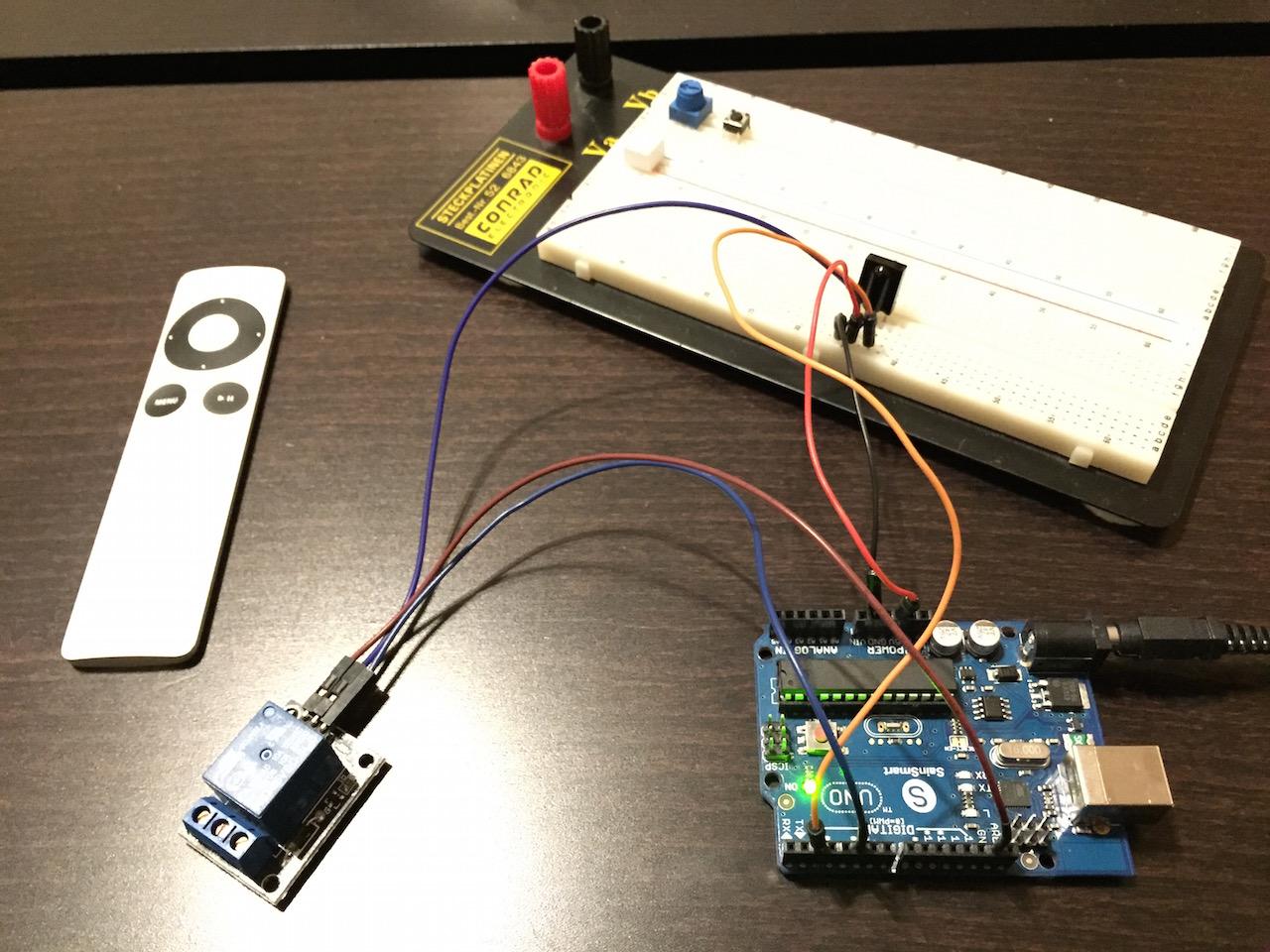 Arduino Uno, Relais und Infrarotsensor