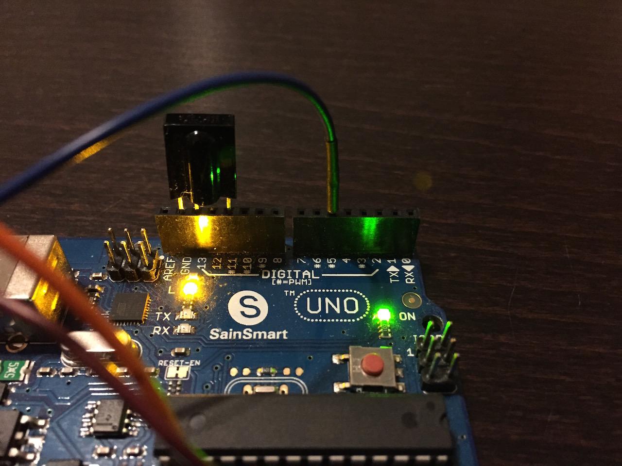 Der IR-Sensor direkt im Arduino Uno
