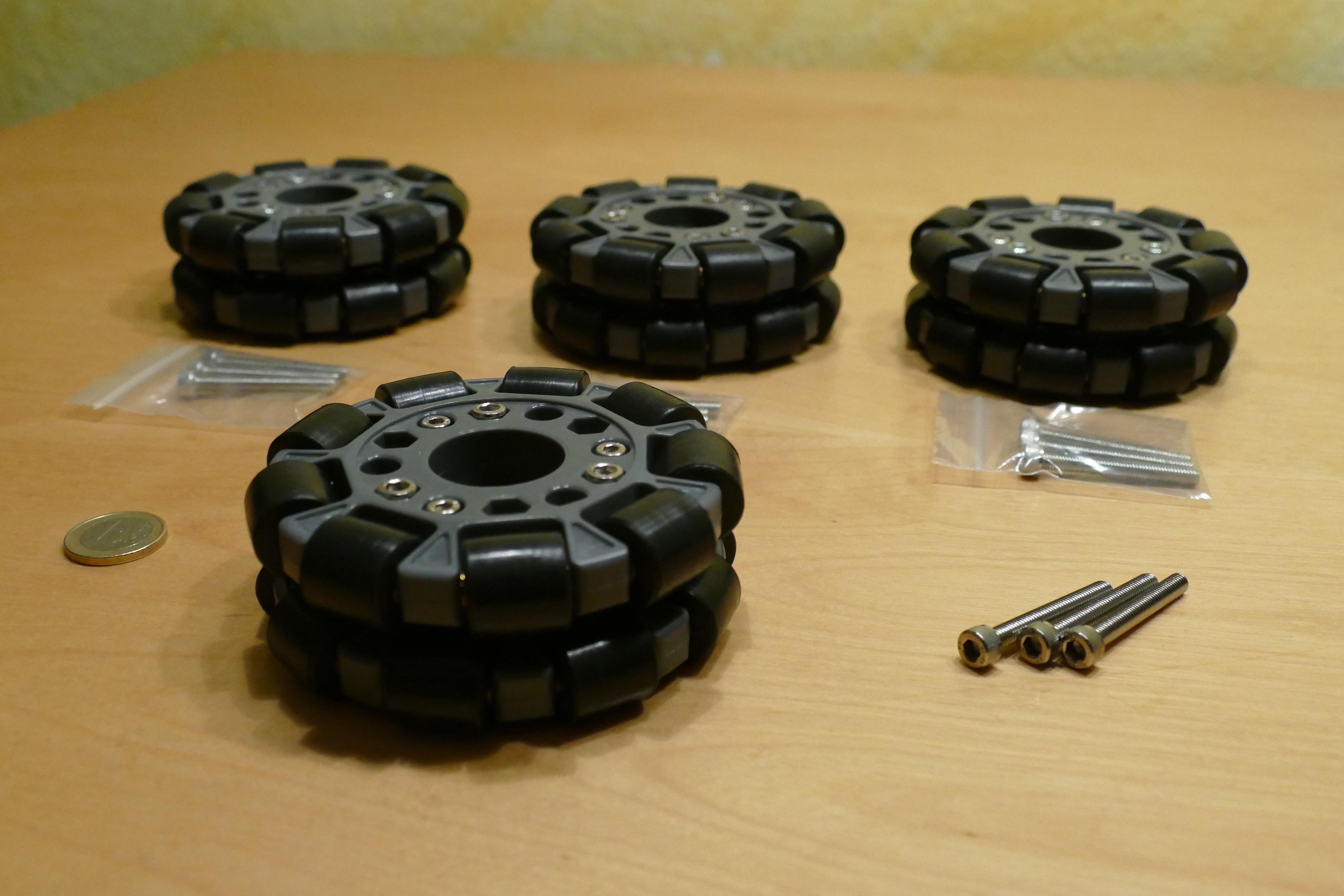 Nexusrobot 100mm Doppel Plastik Omni Rad mit Kugellagern (Nex-14060)
