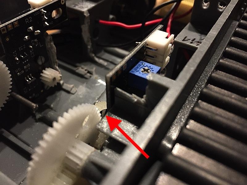 minibot Encoder Aufkleber erkennbar